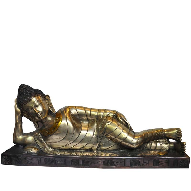 Sleeping Buddha Brass Idol