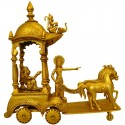 Krishna - Arjuna Bhaghavath Geeta bodhana Brass Idol