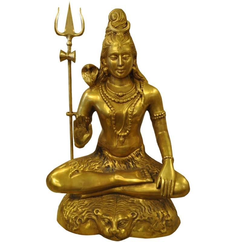 Ashirvad Shiva Brass Statue