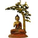 Ashirvad Buddha Under The Tree Brass Idol