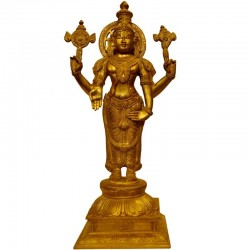 Standing Vishnu Brass Idol