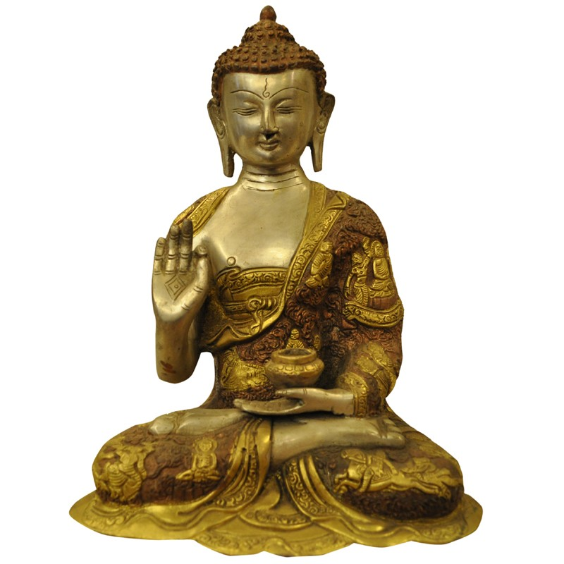 Lord Buddha Brass Idol