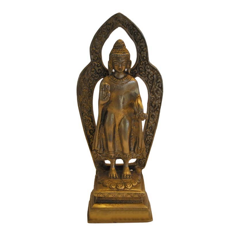 Blessing Budha Brass Statue
