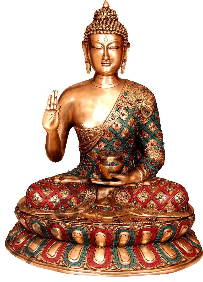Tricolour Buddha