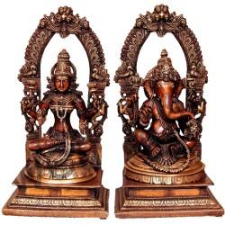 Ganesha & Rajarajeshwari peetaprabhavali
