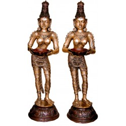 Lady With Deepa Brass Idol