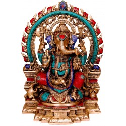 Coral Ganesha On Prabhavali