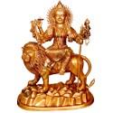 Maa Durga sitting On Lion Brass Statue