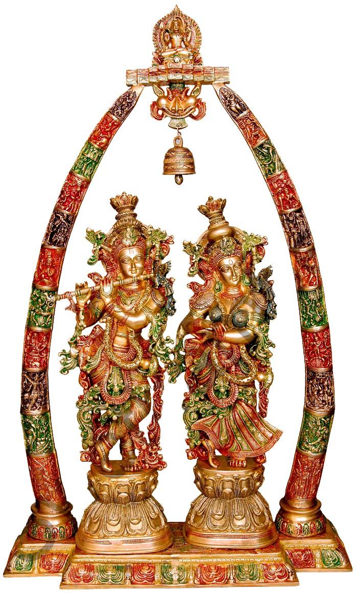 Tri Colour Radha Krishna