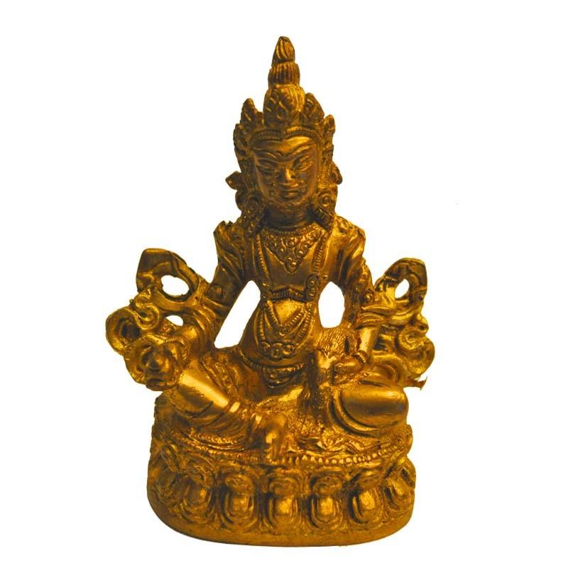 Kubera Sitting Brass Idol