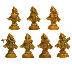 Set of 7 Musical Ganesha's