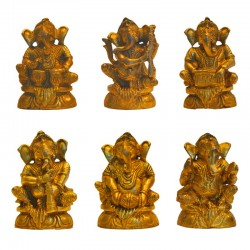 Set of Small Musical Ganesha