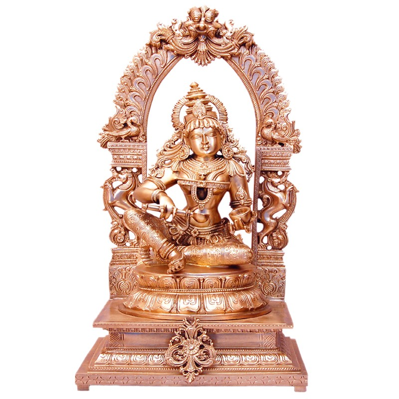Annapoorneshwari Sitting on Peeta Prabhavalli