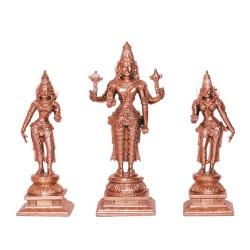 Srinivasa, Sridevi, Bhudevi Brass Idol