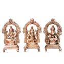 Blessing Lakshmi, Ganesha, Saraswathi on Peeta Prabhavali