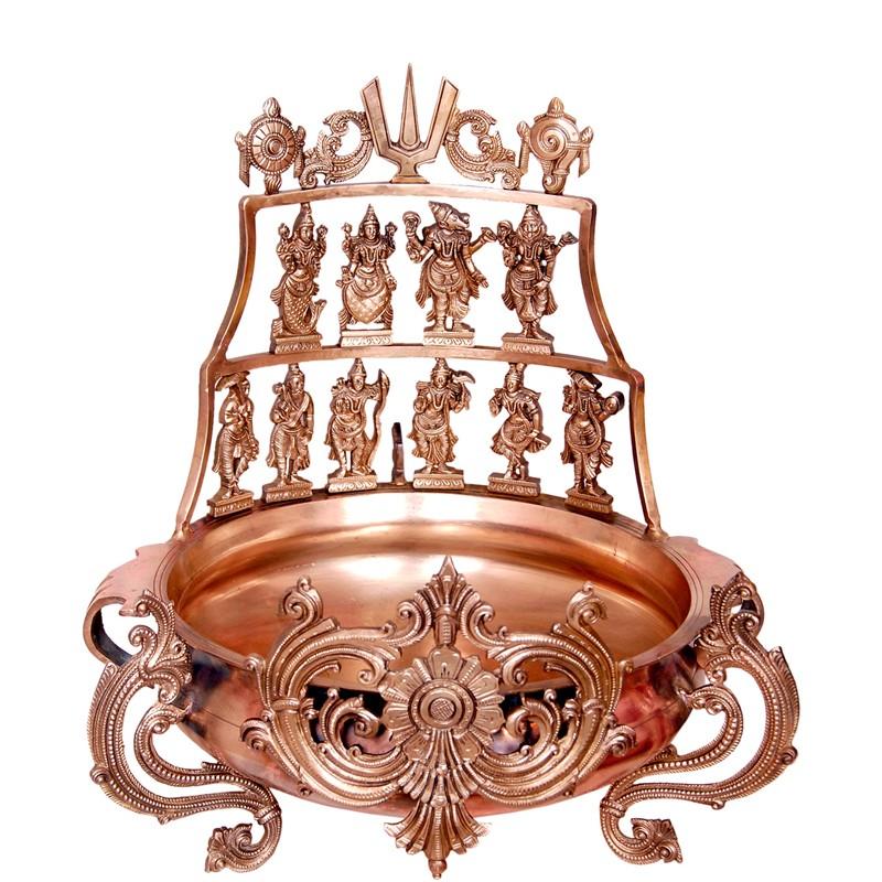 Dashavatara Brass Urli
