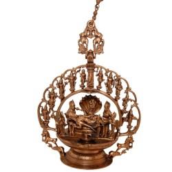 Lakshmi Narayana with Dashavatara Deepa