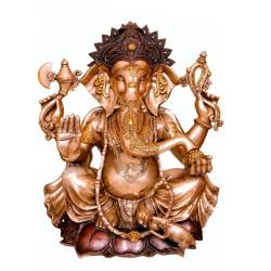 Blessing Ganesha Sitting on Lotus
