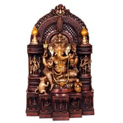 Ganesha Sitting on Beautiful Throne