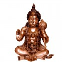 Blessing Hanuman Brass Statue