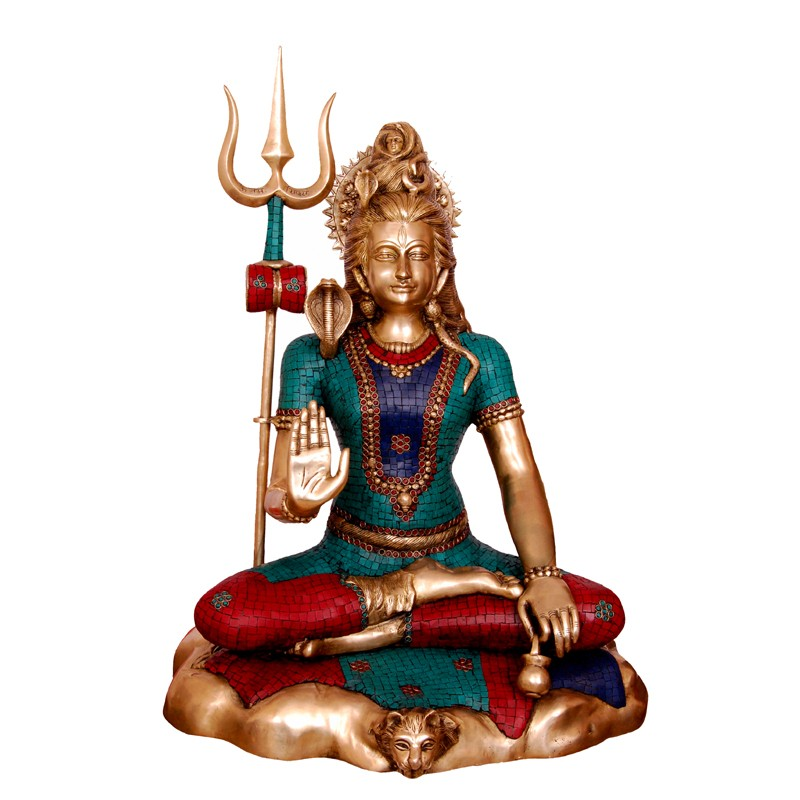 Blessing Coral Coloured Shiva