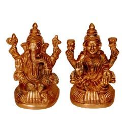 Gowri Ganesha Brass Idol