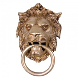 Lion Face Door Knocker