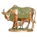 Cow & Calf Brass Idol