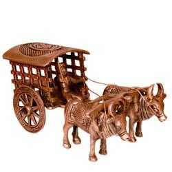 BullLock Cart Brass Statue