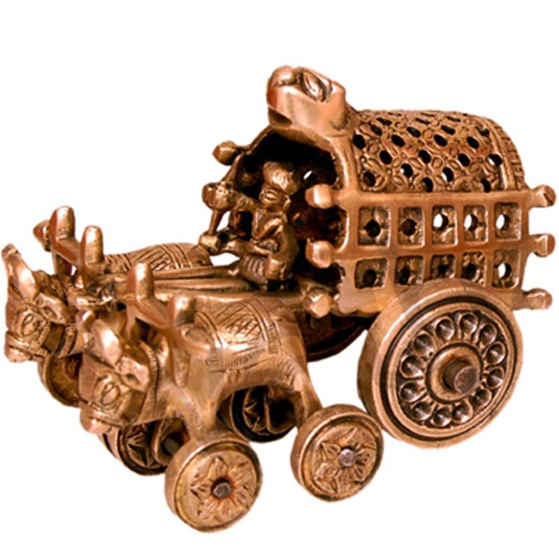 Toy Bull Lock Cart