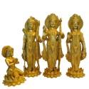 Brass Idol of Lord Ram standing on Lotus in Darbar