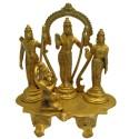 Ram Darbar on brass Peeta with prabhavali