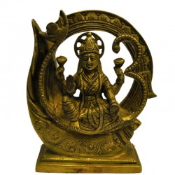 Lakshmi Sitting On Om Peeta