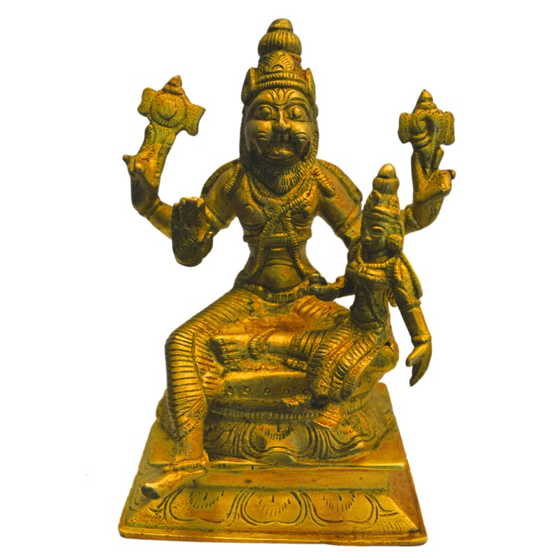 Lakshmi Narasimha Brass Idol