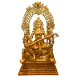 Saraswathi Brass statue