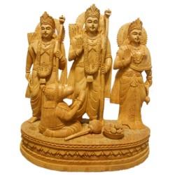 Ram Dharbar Wooden Idol