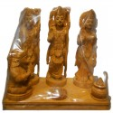 Ram Darbar on beautifully crafted wooden peeta