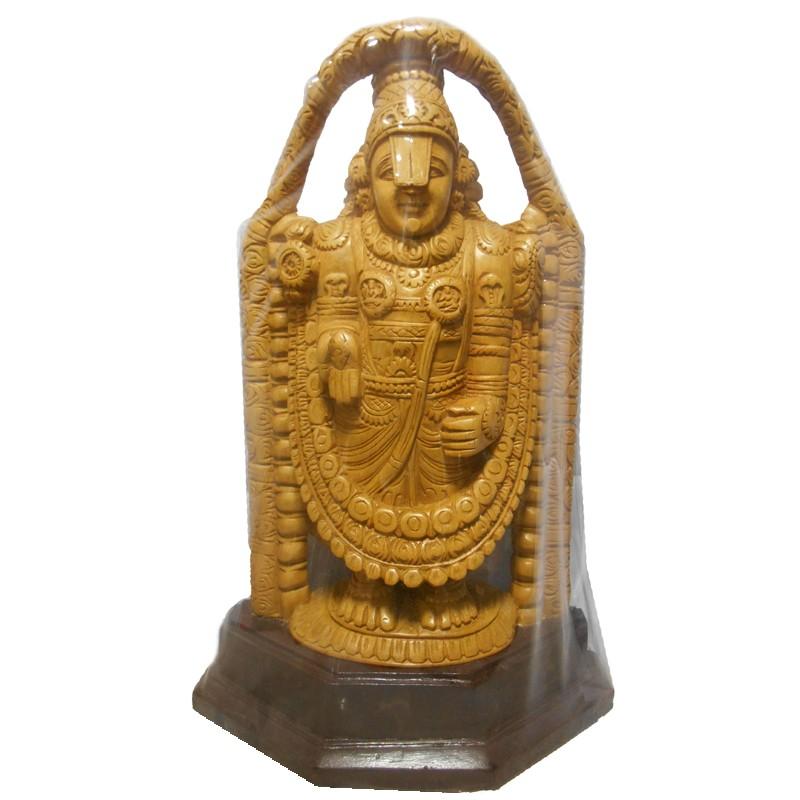 Srinivasa wooden Statue