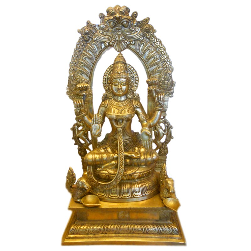 Lakshmi Brass Statue