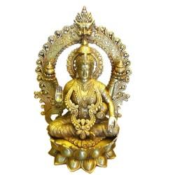 Lakshmi Holding Kalasha Brass Idol