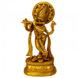 Lord krishna Brass Idol