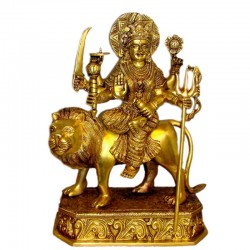 Maa Durga Blessing over Lion