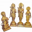 Shining Ram Darbar Brass Statues