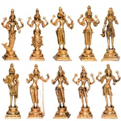 Dashavatara Designed Brass Idol