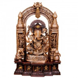 Multi Tone Ganesha on Peeta Prabhavali