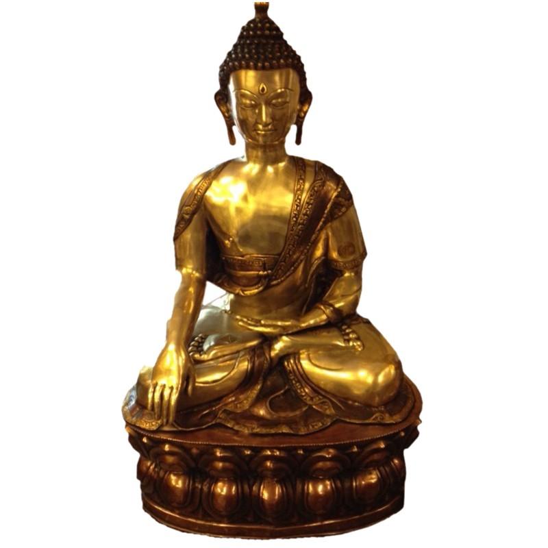 Lord Buddha Brass Statue