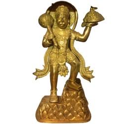 Standing Hanuman Brass Idol