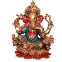 Coral Ganesha Blessing