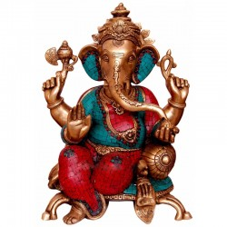 Relaxing Coral Ganesha & Blessing