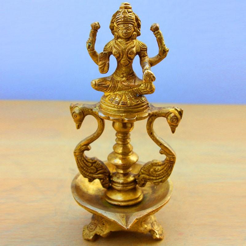 Lakshmi with Diya